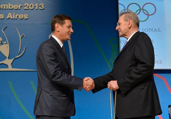Alexander Zhukov et Jacques Rogge