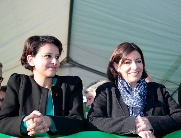 Najat Vallaud-Belkacem et Anne Hidalgo