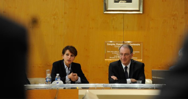 Najat Vallaud Belkacem et Denis Masseglia - CNOSF