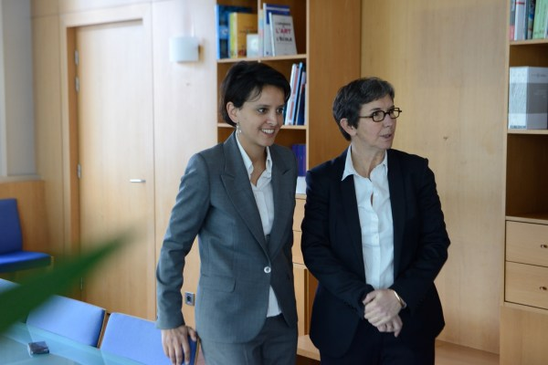 Najat Vallaud-Belkacem et Valérie Fourneyron