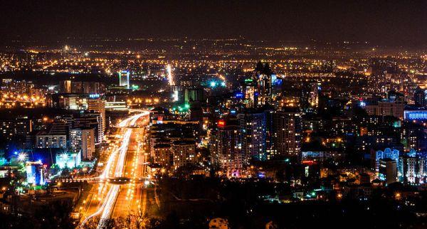 Almaty - vue nocturne