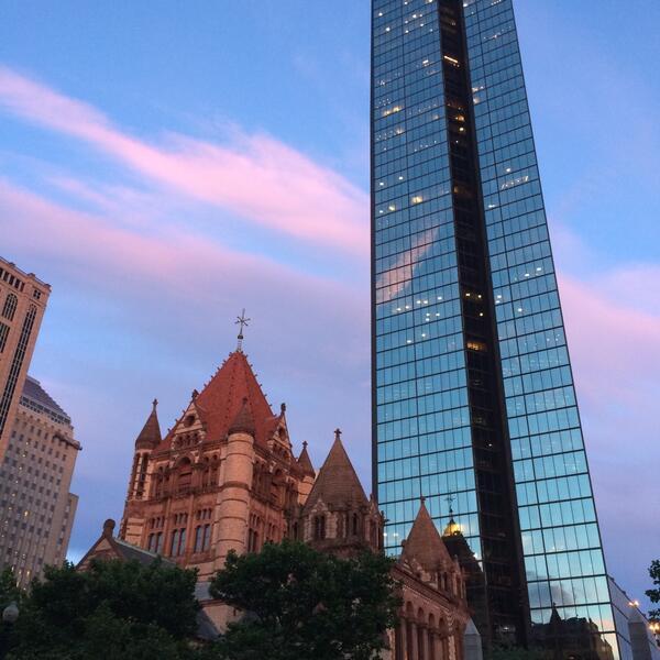 Boston - coucher de soleil
