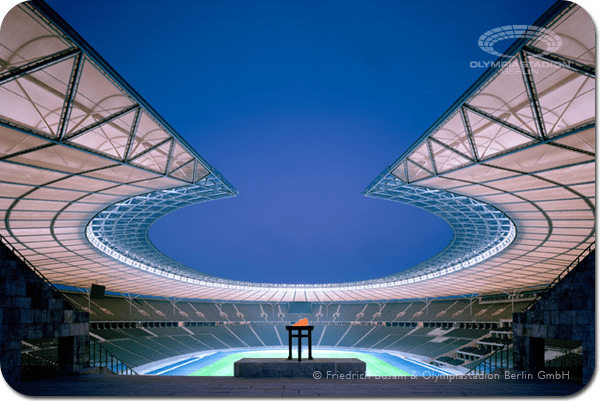 Berlin 2024 - Stade Olympique - vue nocturne
