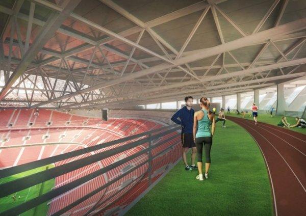 Budapest - nouveau Stade National - vue intérieure