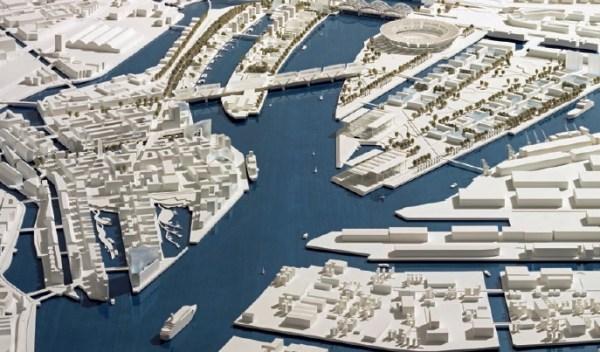 Hambourg 2024 - maquette du Village Olympique