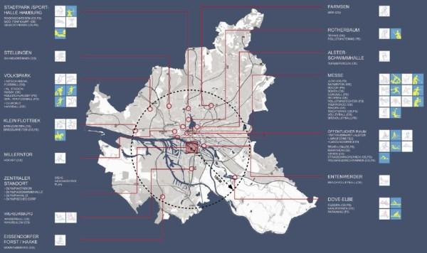 Hambourg 2024 - carte des sites