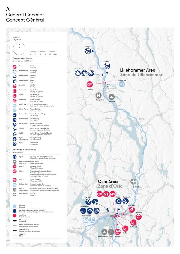 Oslo 2022 - carte des sites