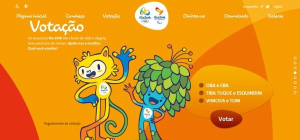 Rio 2016 - vote mascottes
