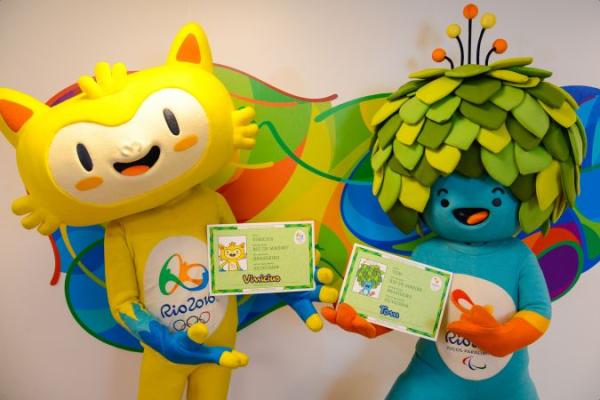 Rio 2016 - Vinicius et Tom - mascottes