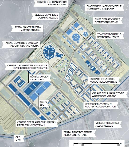 Almaty 2022 - plan Cité Olympique