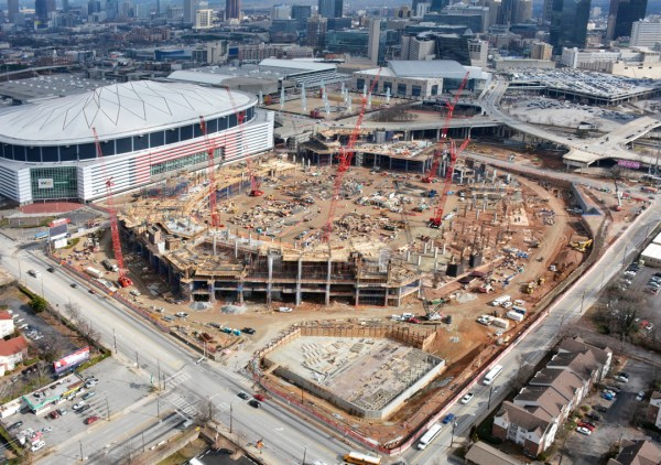 Atlanta - nouveau stade - chantier janvier 2015