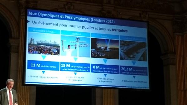 Paris 2024 - Bernard Lapasset chiffres de Londres 2012