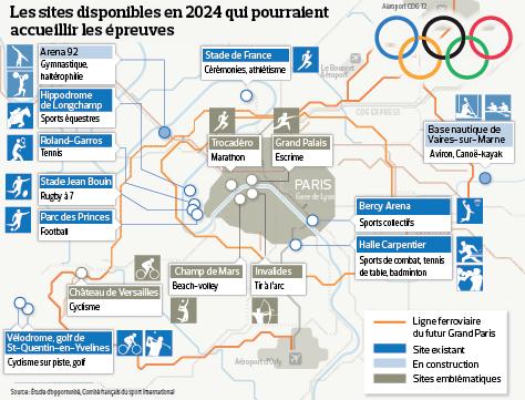 Paris 2024 - Sites Ile-de-France