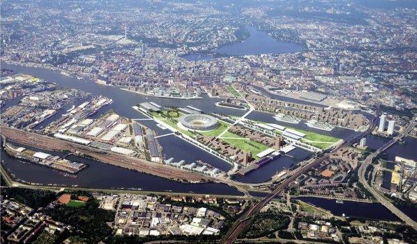 Hambourg 2024 - vue générale de Kleiner Grasbrook
