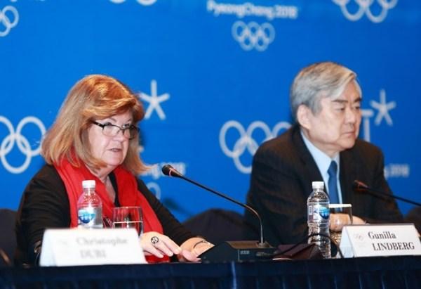 PyeongChang 2018 - Gunilla Lindberg et Cho Yang-ho
