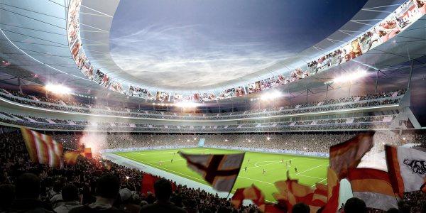 AS Roma - Vue intérieure du stade