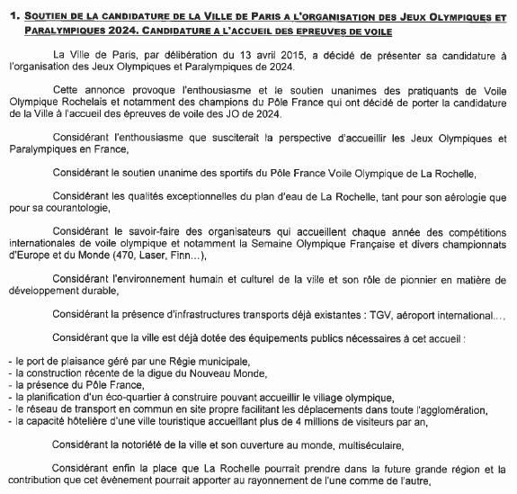 La Rochelle 2024 - délibération - 1