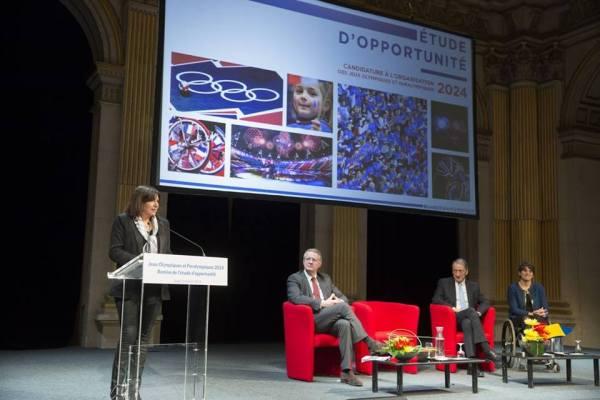 Paris 2024 - tribune Anne Hidalgo