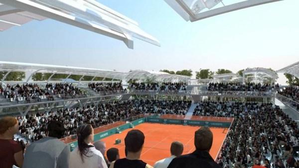 Vue intérieure du Court des Serres d'Auteuil - Roland Garros (Crédits - Marc Mimram)