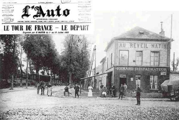 Lieu du départ du Tour de France 1903 (Crédits - Sébastien Barké)