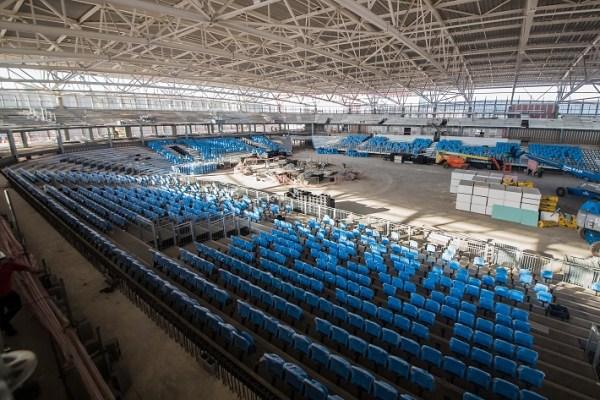 Vue intérieure de l'Aréna Carioca n°1 (Crédits - Renato Sette Camara / Prefeitura do Rio)