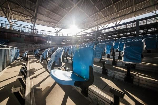 Les 10 000 sièges de l'Aréna Carioca n°1 seront bleus et verts (Crédits - Renato Sette Camara / Prefeitura do Rio)