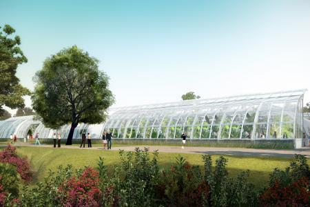 Vue du nouveau Court des Serres d'Auteuil d'une capacité de 4 950 places (Crédits - DR / FFT)