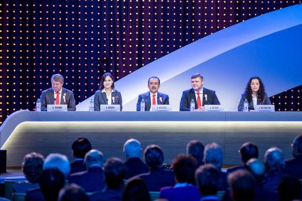 Une partie de la délégation d'Almaty 2022 (Crédits - CIO / Ubald Rutar)