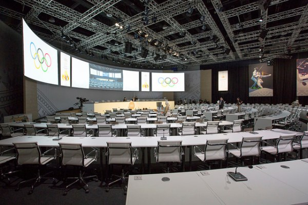 Vue de la Salle de Session (Crédits - CIO / Ubald Rutar)