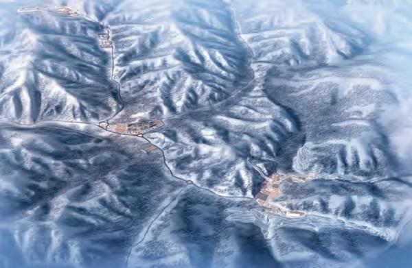 Visuel du Centre de ski nordique (Crédits - Pékin 2022)