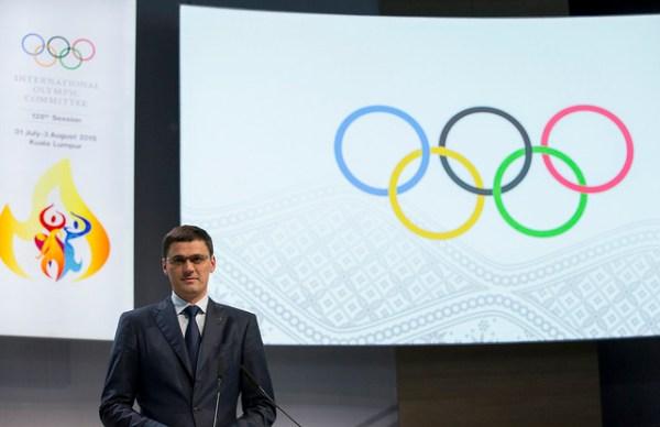 Alexander Popov lors de la 128e Session du CIO, la semaine dernière (Crédits - CIO / Ian Jones)