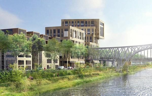 Visuel du projet d'écoquartier de L'Île-Saint-Denis (Crédits - Plaine Commune)