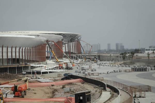 Vue générale des travaux du Parc Olympique de Barra, en septembre 2015 (Crédits - Cidade Olimpica)