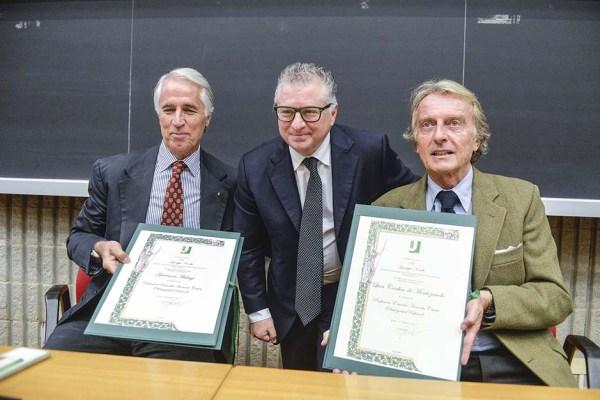 De gauche à droite, Giovanni Malago, Président du CONI ; Giuseppe Novelli, Recteur de l'Université Tor Vergata et Luca di Montezemolo, Président de Rome 2024 (Crédits - CONI / Ferdinando Mezzelani / GMT)