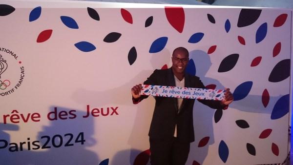 """Teddy Riner lors du lancement de la campagne """"Je rêve des Jeux"""", le 25 septembre dernier (Crédits - Sport & Société)"""