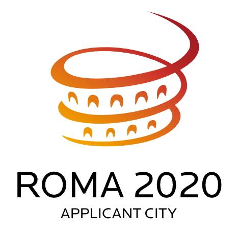 Logo de Rome 2020, Ville Requérante, avant le retrait prématuré de la candidature italienne, en février 2012 (Crédits - Rome 2020)