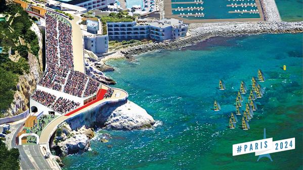 Visuel de la Corniche d'où plusieurs milliers de spectateurs pourraient assister aux épreuves de voile (Crédits – Paris 2024)