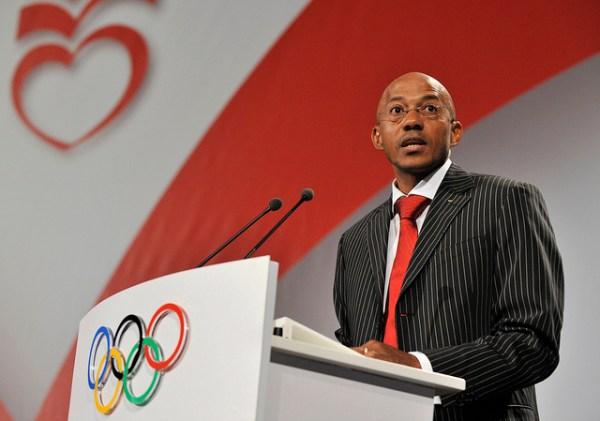 Frank Fredericks en octobre 2009 (Crédits - IOC Flickr / R. Juilliart)
