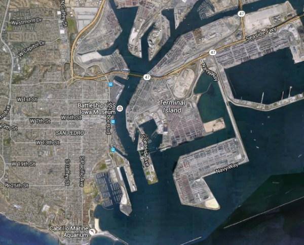 Vue satellite de San Pedro (Crédits - Google Maps)