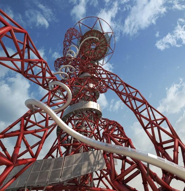 Visuel de la tour et du toboggan (Crédits - ArcelorMittal Orbit)