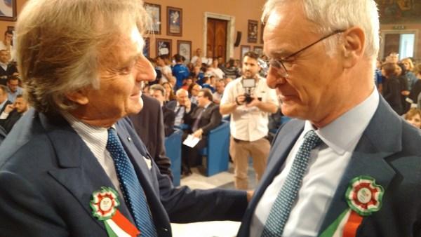 Luca di Montezemolo, Président de Rome 2024 ; et Claudio Ranieri, entraîneur du club de football de Leicester (Crédits - Roma 2024)