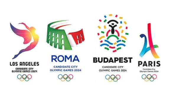 Logos des quatre Villes Candidates à l'organisation des JO 2024 (Crédits - CIO)