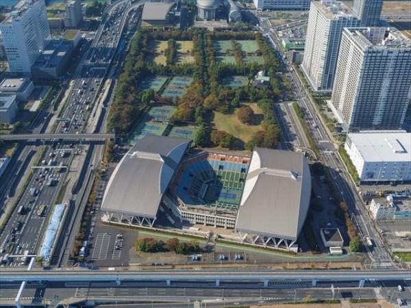 Vue de l'Ariake Tennis Park (Crédits - Tokyo 2020)