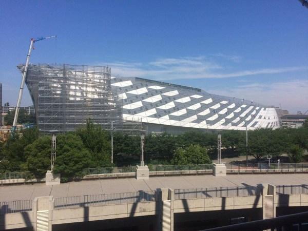 L'arène en construction du Musashino Forest Sport Centre (Crédits - Tokyo 2020)