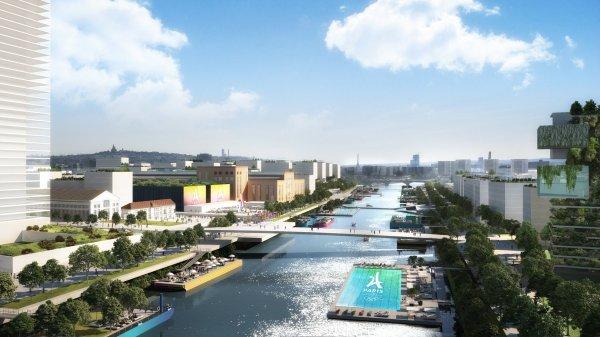 Visuel du Village des Athlètes de Paris 2024 dans le secteur de Pleyel-L'Île-Saint-Denis (Crédits - Paris 2024)