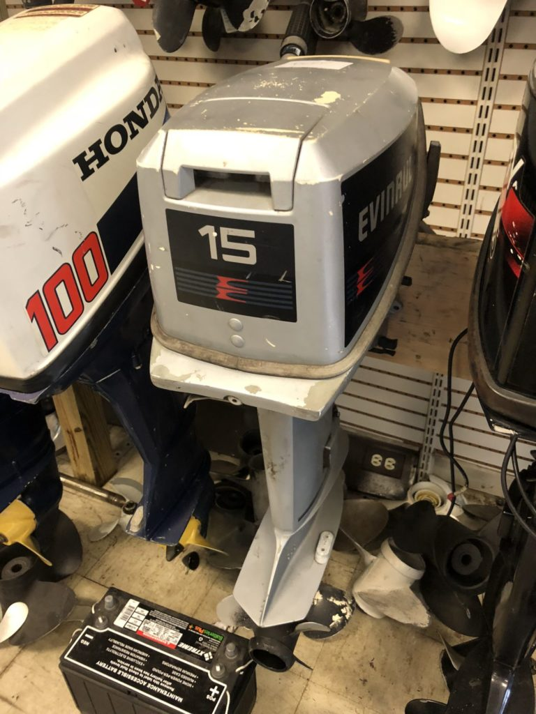 hight resolution of 1987 15hp evinrude sold