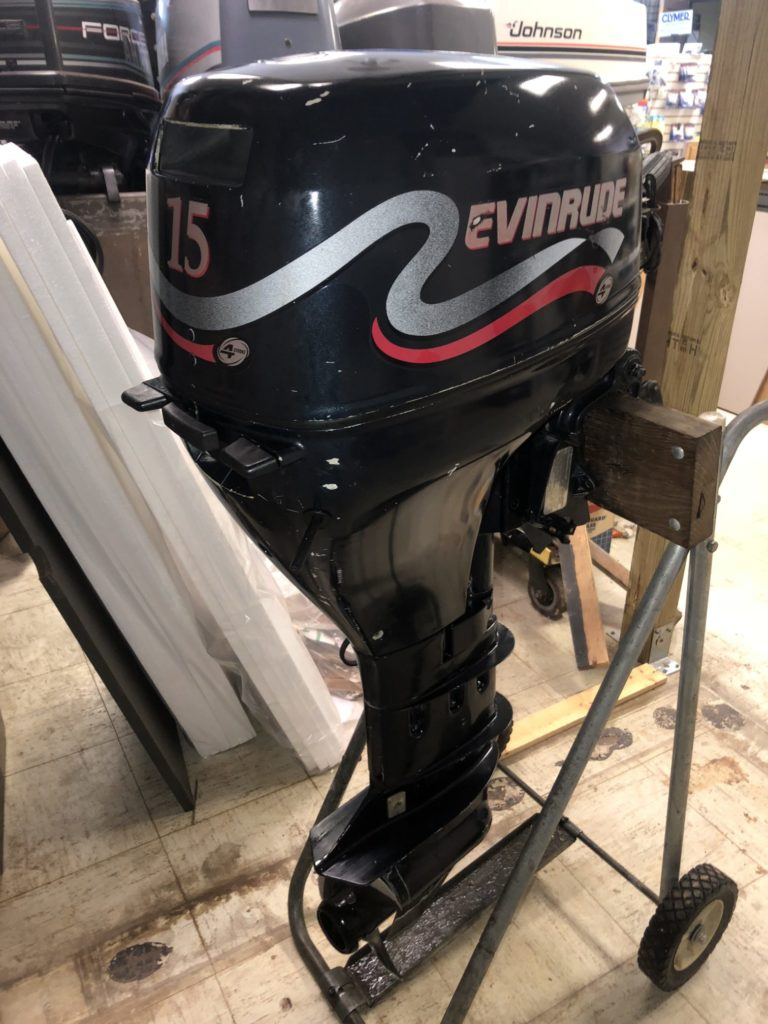 hight resolution of 1999 evinrude 15hp 4 stroke sold