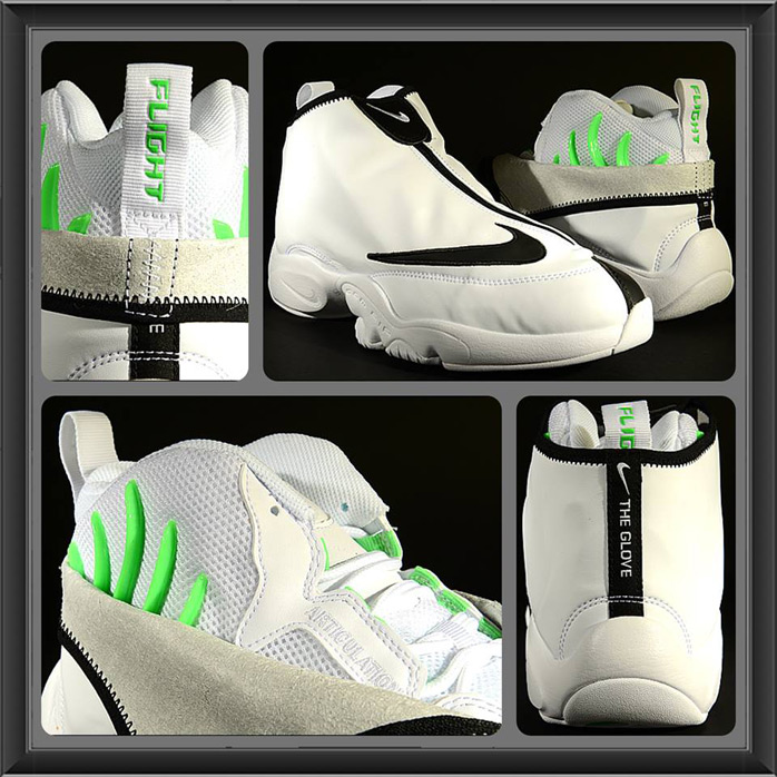29558e3961a9 Nike Air Zoom Flight The Glove SL White Black Poison Green ...
