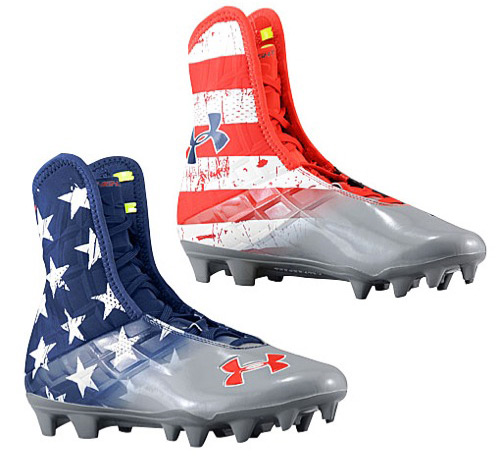 american flag under armour cleats