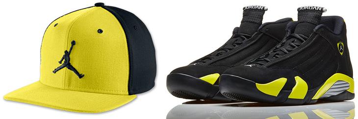 55904a8d9ce Air Jordan 14 Thunder Jumpman Hat